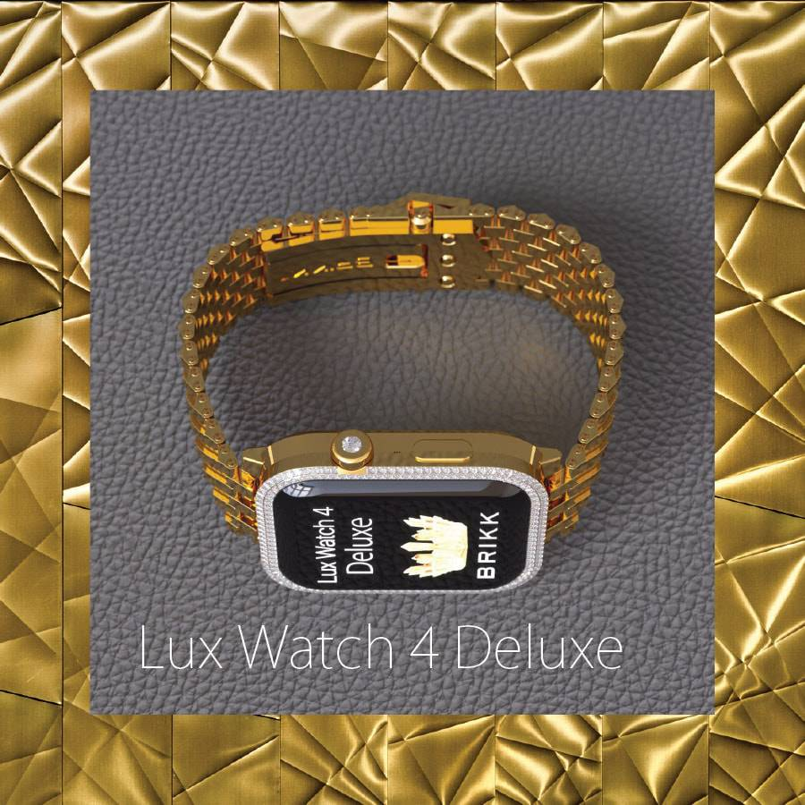 Brikk Lux Apple Watch 4 Solid Gold J Orig