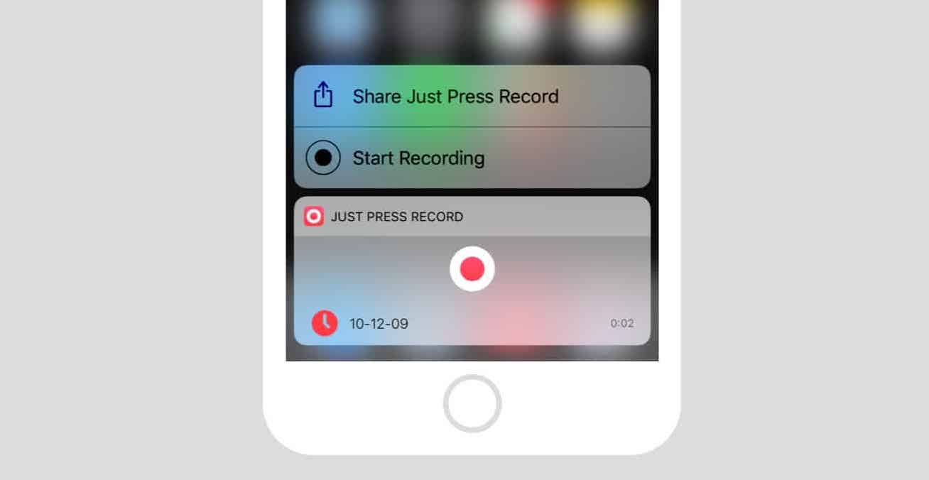 Just Press Record Widget
