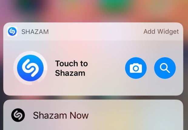 Shazam Widget Ios