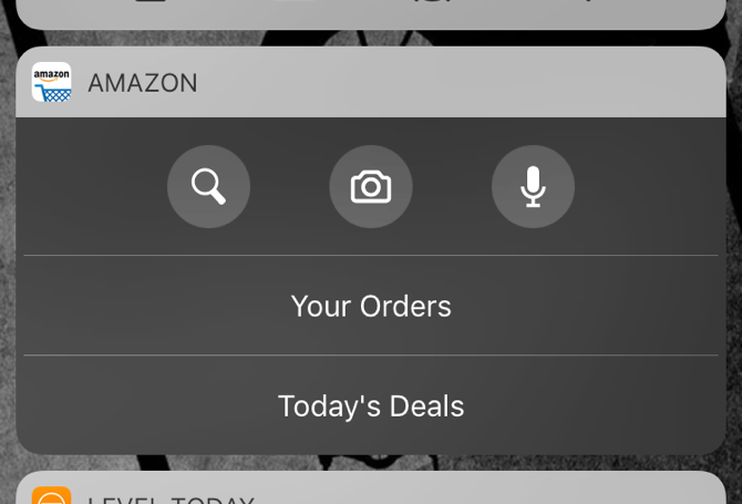 Ios 10 Amazon Widget