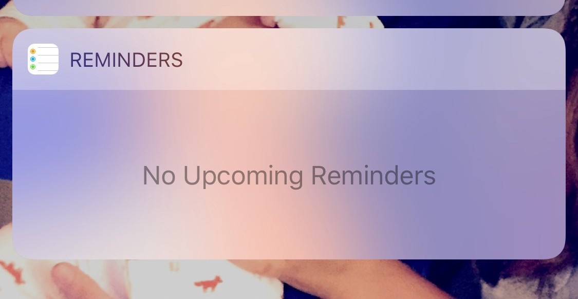 Reminders Widget Ios