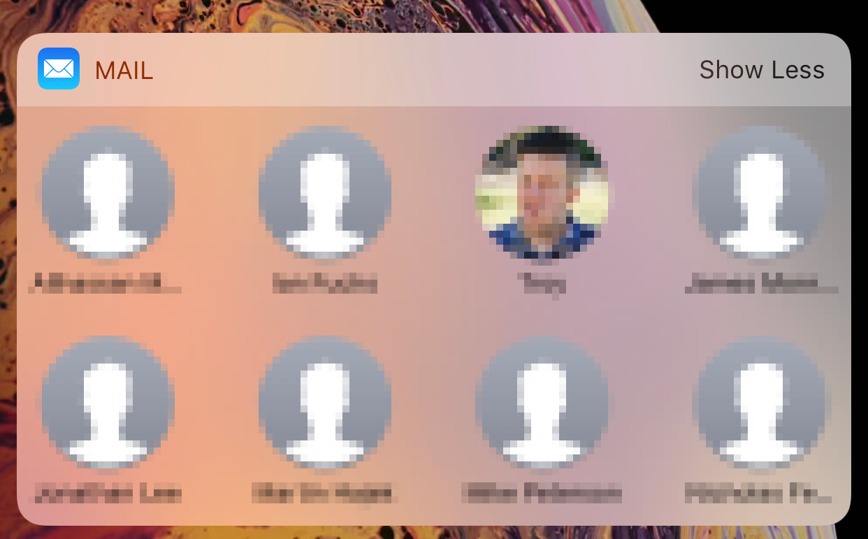 Mail Widget Ios