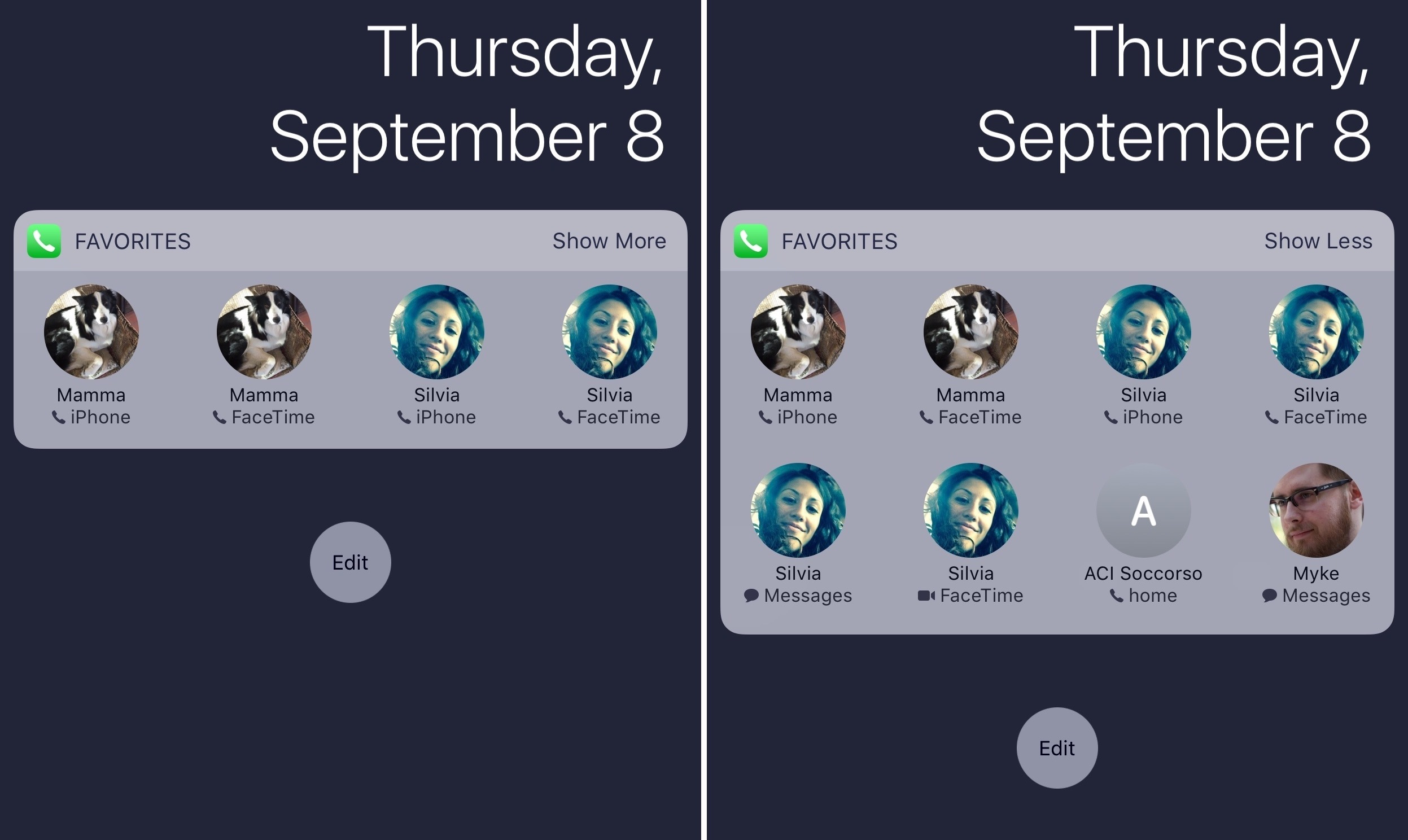 Favorites Widget Ios