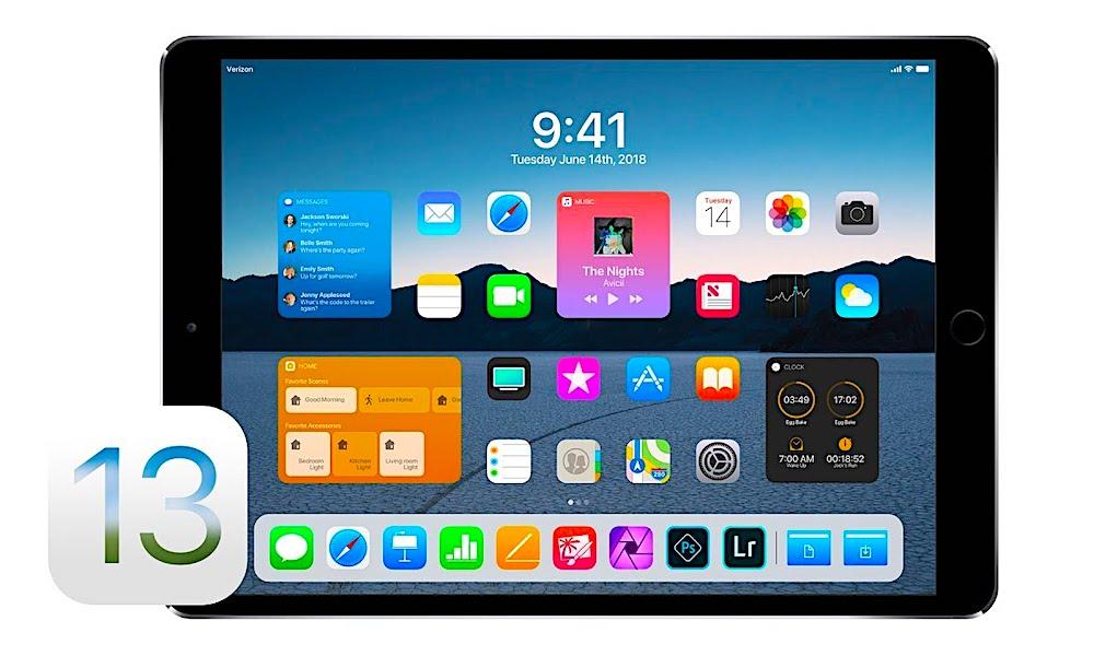 Ipad Pro Ios 13 Concept Image