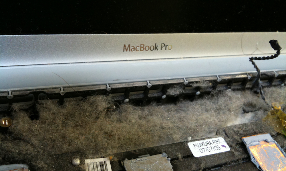 Macbook Pro With Dust