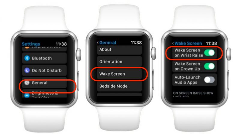 Apple Watch Wake Screen