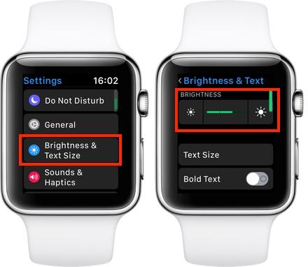 Apple Watch Brightness Settings