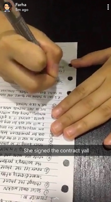 10 Year Old Girl Gets An Iphone After Signing Contract 3