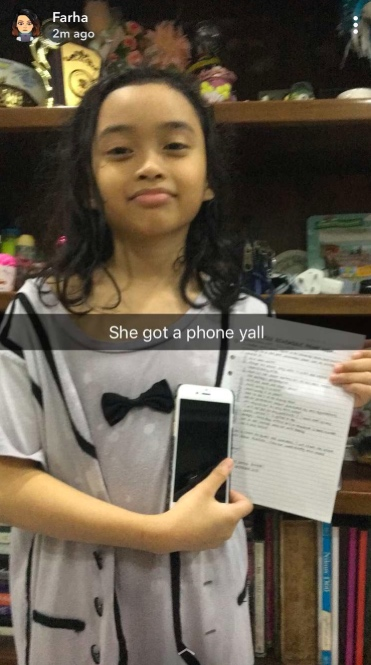 10 Year Old Girl Gets An Iphone After Signing Contract