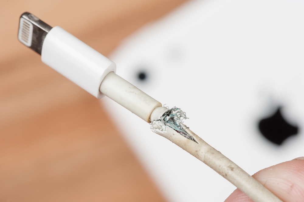 Frayed Iphone Cable