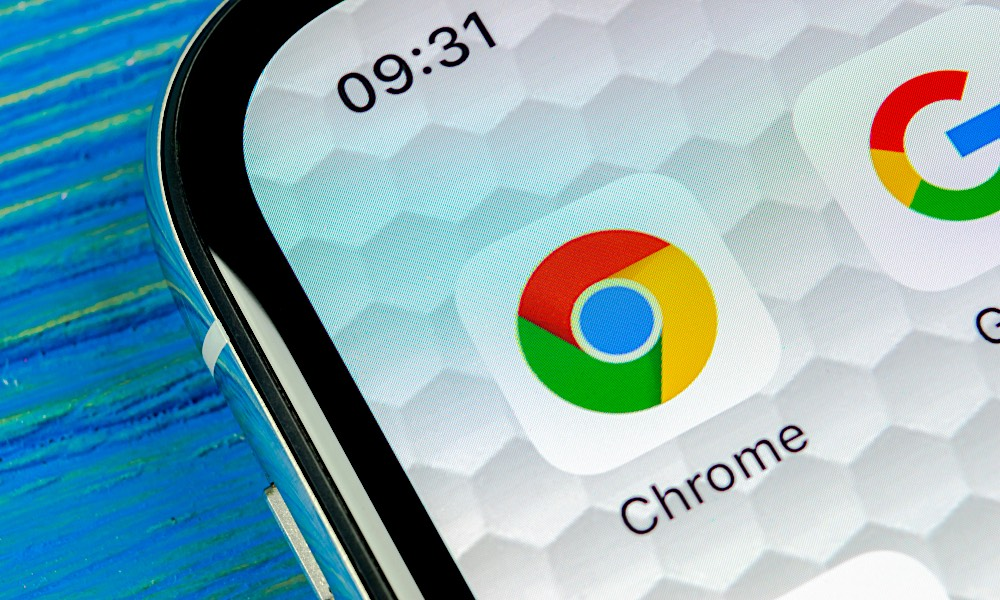 Google Chrome na Iphone X Xs