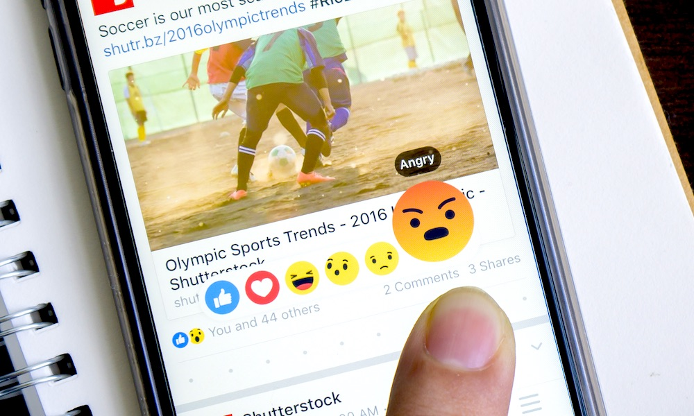 Facebook App Angry Reaction
