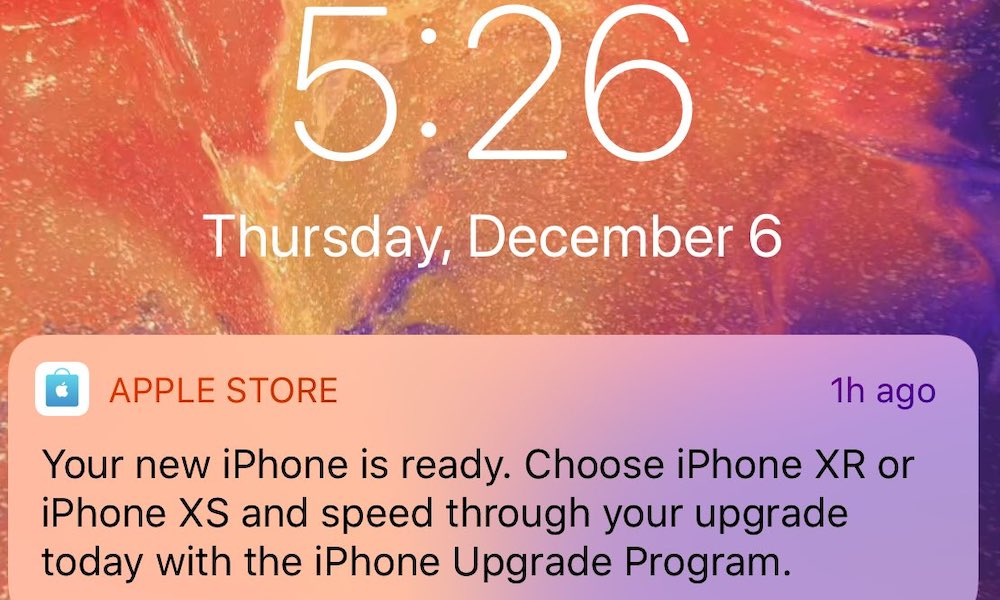 Iphone Promotion Notification