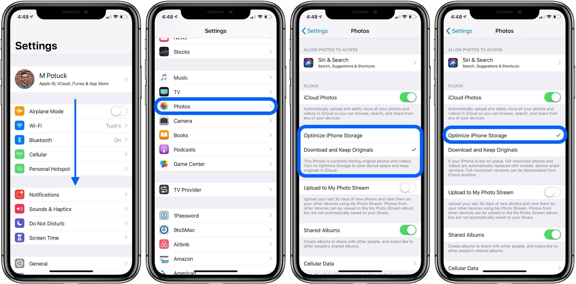 How To Optimize Photo Storage Ios 12