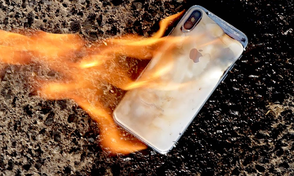 Iphone Xs Fire Flames Hot Temperature