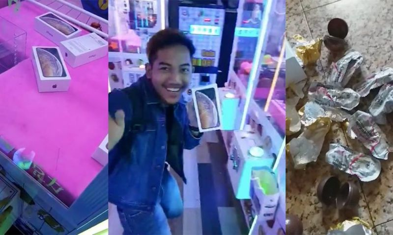 Man 'Wins' iPhone XS in a Claw Machine, Finds Something Else Entirely Inside