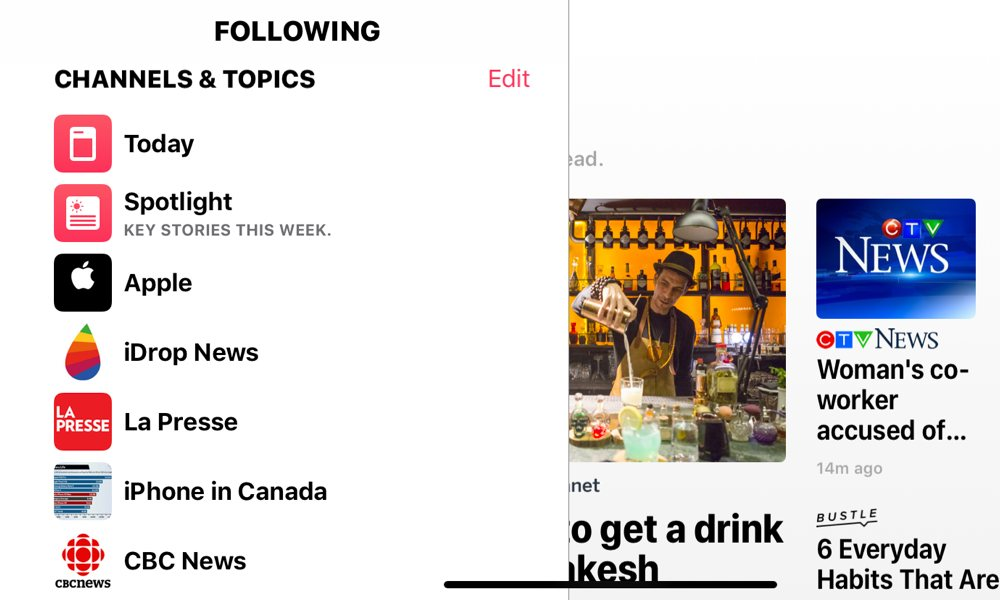 Apple News In Canada Homescreen