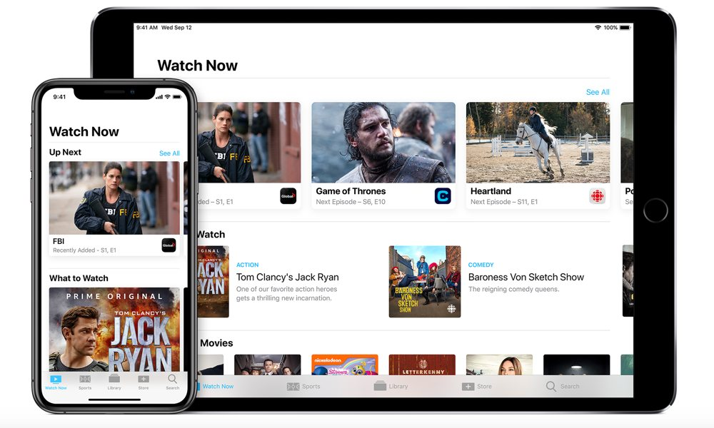 Apple TV app on iPhone and iPad