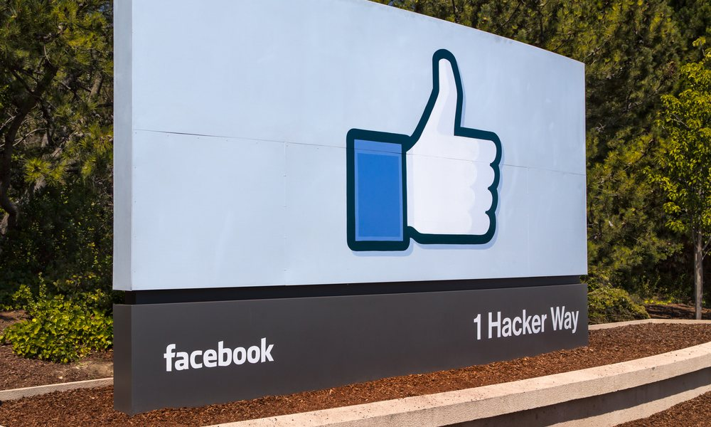 Campus Sign at Facebook Headquarters