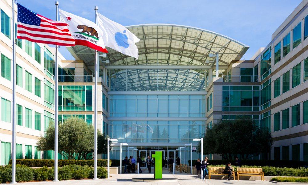 Apple Campus One Infinite Loop With Flags