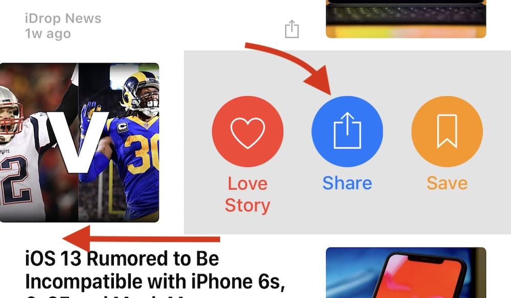 Share A Story On Apple News