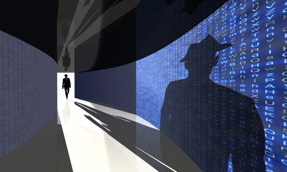 Black Hat Hacker Silhouette Hallway