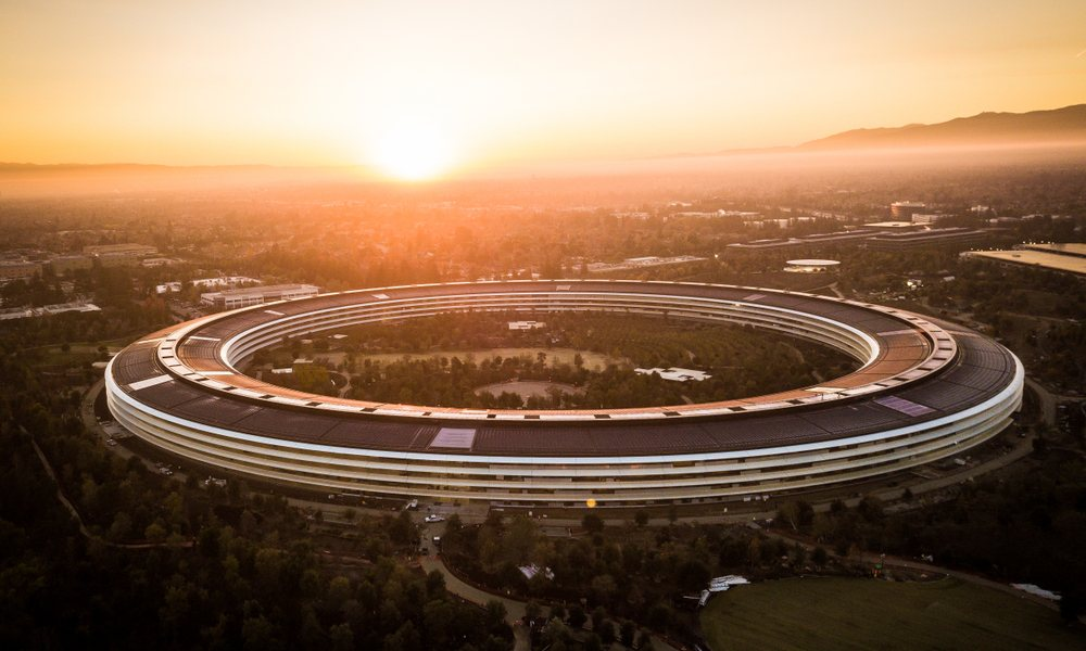 Apple Park Campus Sunset