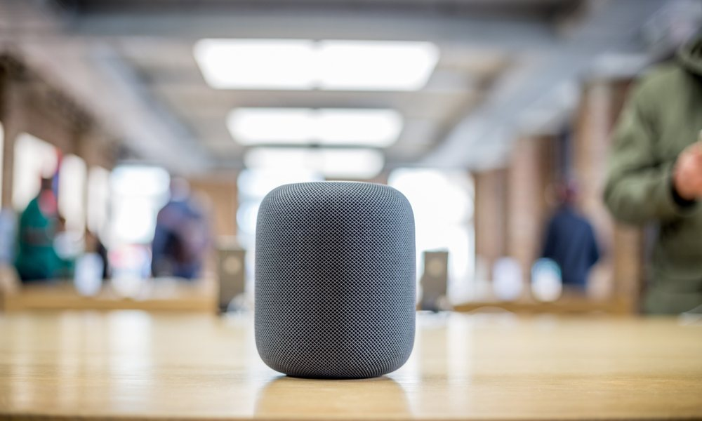 Homepod on Table in Store