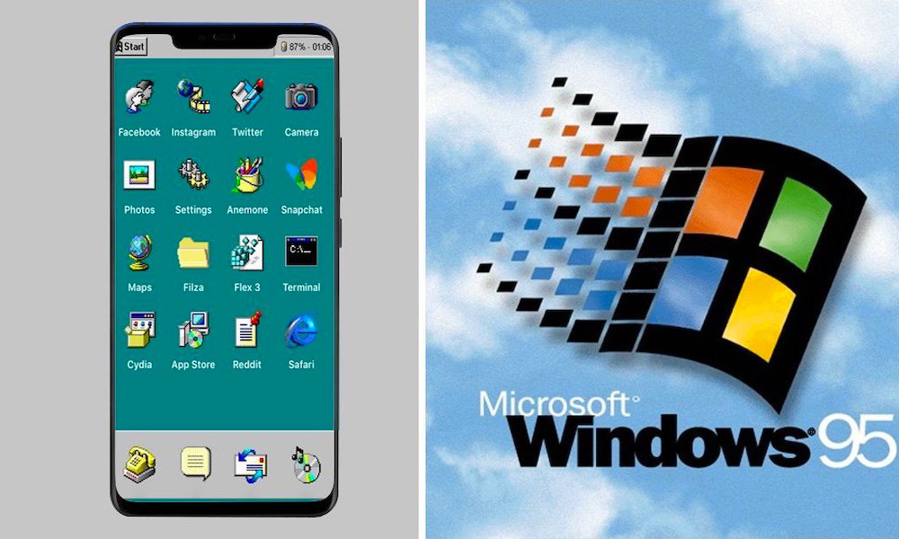 iOS95 Lets iPhone Users Give Their Devices a Windows 95 Makeover