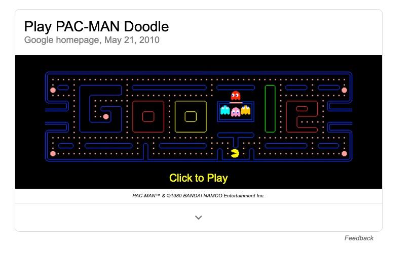 Google Pac Man