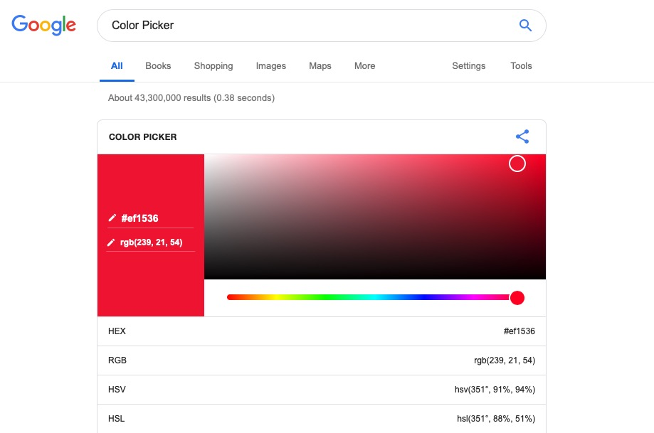 Google Color Picker