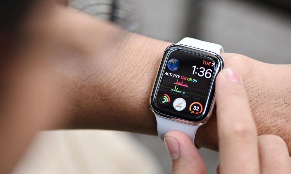Apple Watch On Wrist With Modular Watch Face