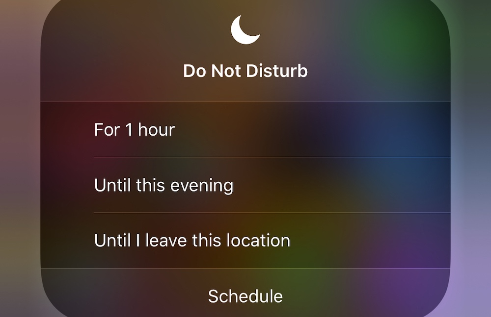 Do Not Disturb Until I Leave