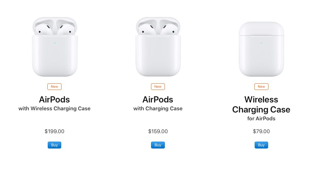 Apple Airpods Store Page
