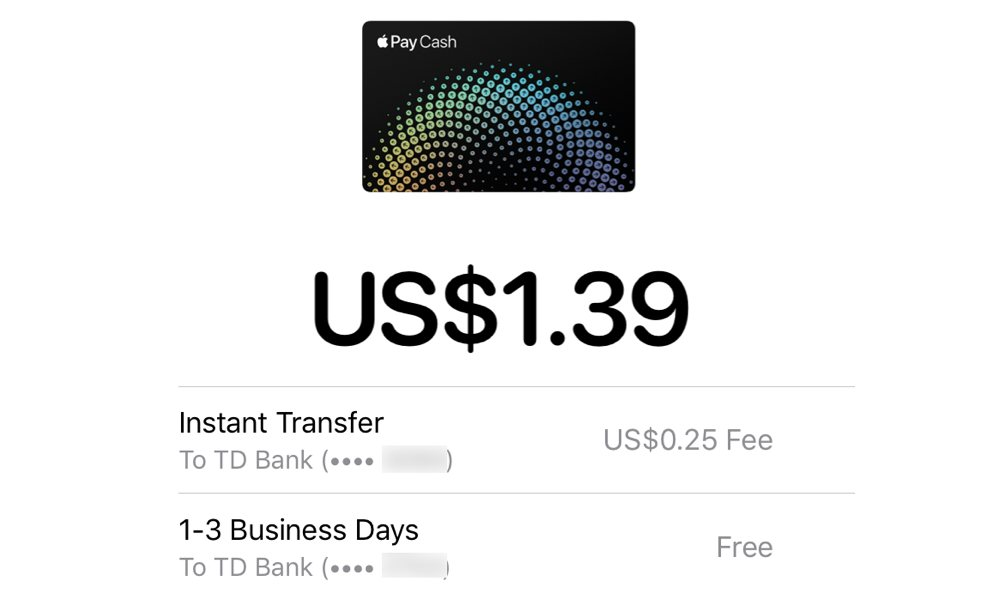 Apple Pay Cash Instant Transfer