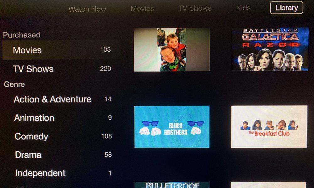 Tv App On 3rd Gen Apple Tv Library
