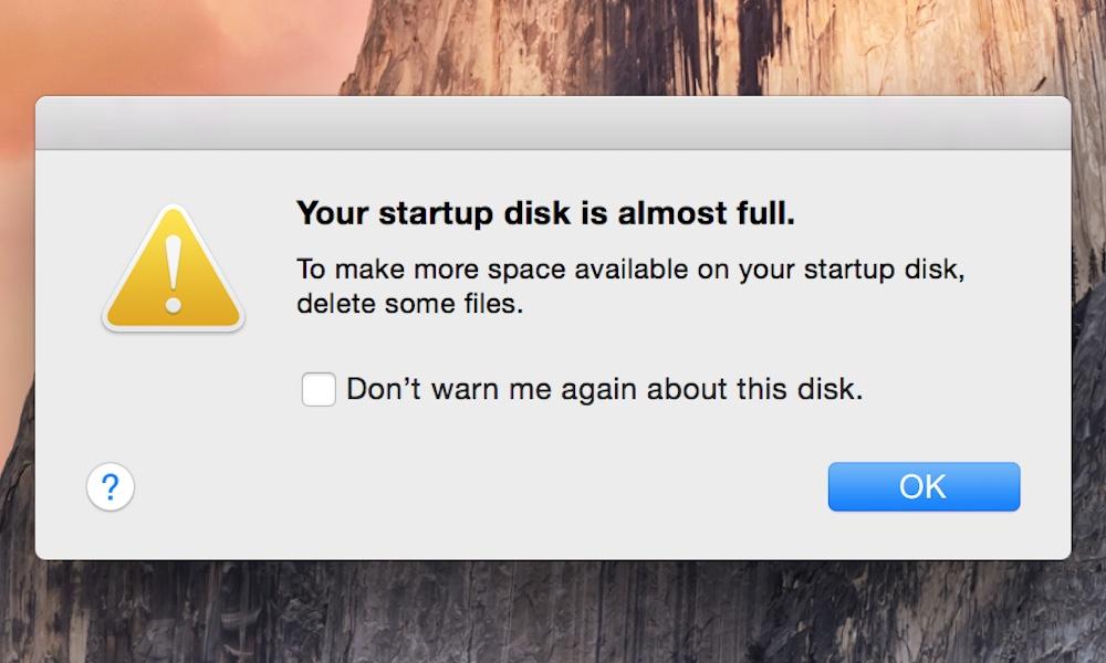 Startup Disk Full Mac Error