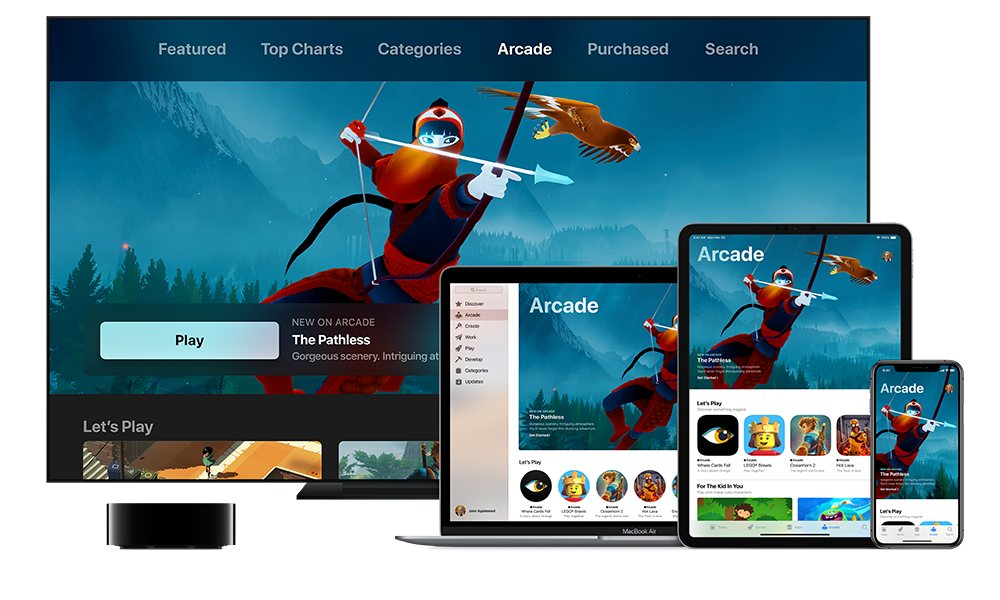 Apple Arcade Banner With Apple Tv