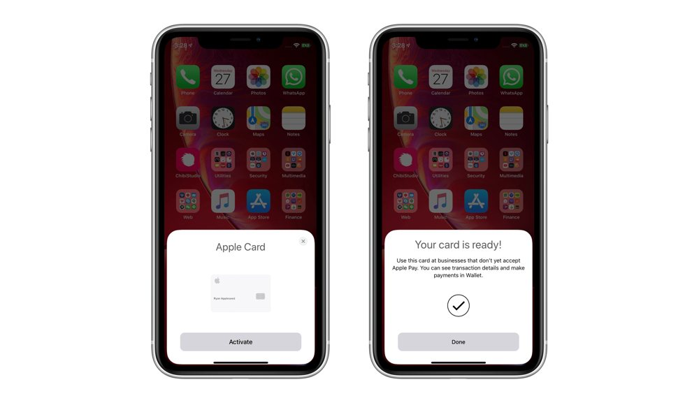 Apple Card Activation in iOS 12.3 Beta