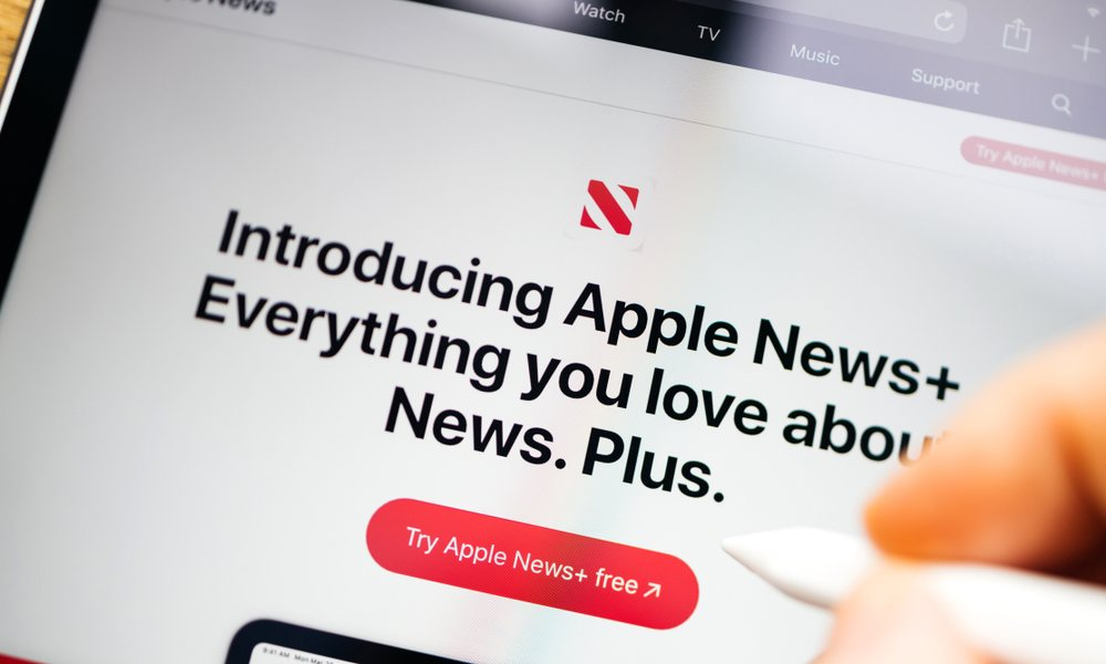 Apple News Plus on iPad