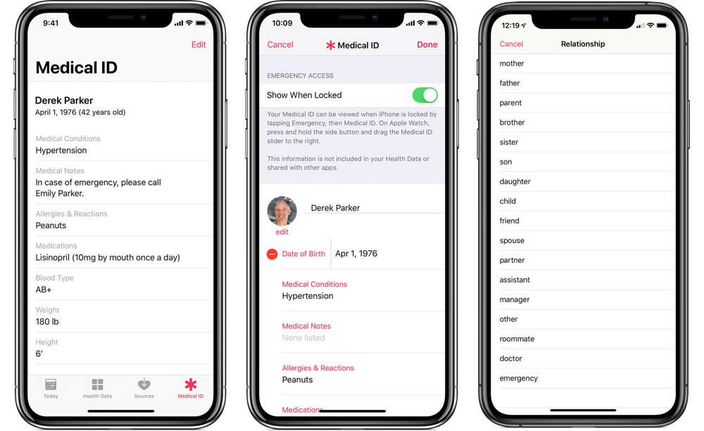 Health App Medical Id Setup