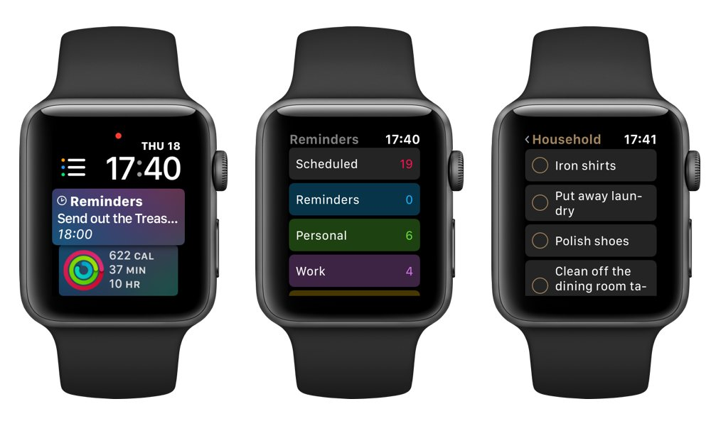 Reminders On Apple Watch