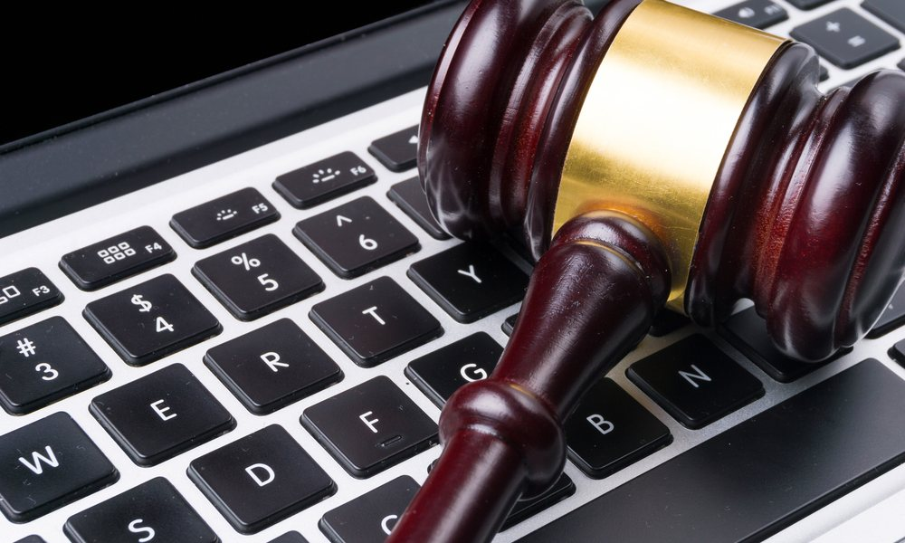Gavel On MacBook Keyboard