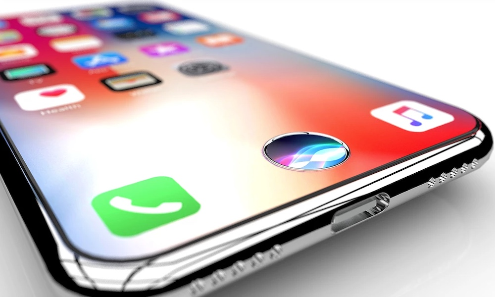 Iphone Touch Id Concept Siri