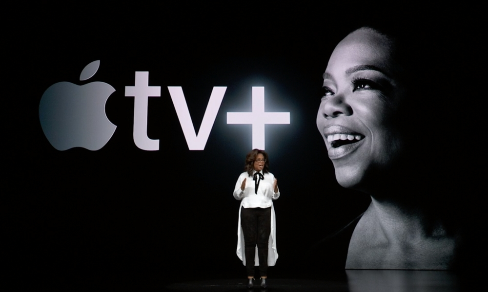 Oprah Winfrey On Stage At Apple Event