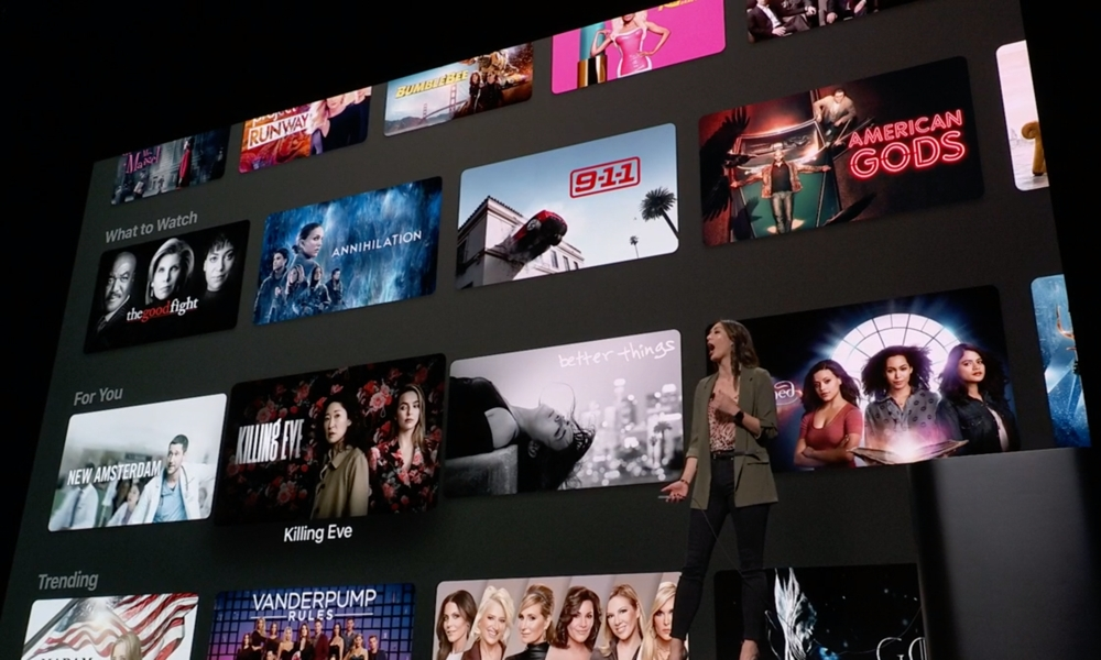 Apple TV Channels On Stage at March 25 Event