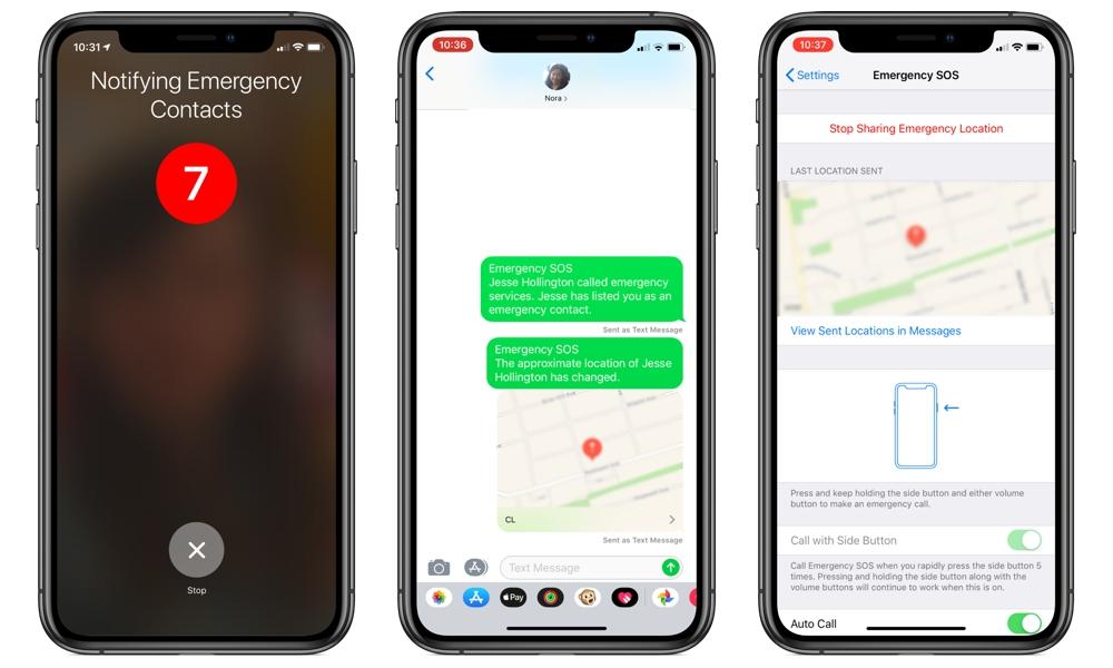 Iphone Sos Informujte nouzové kontakty