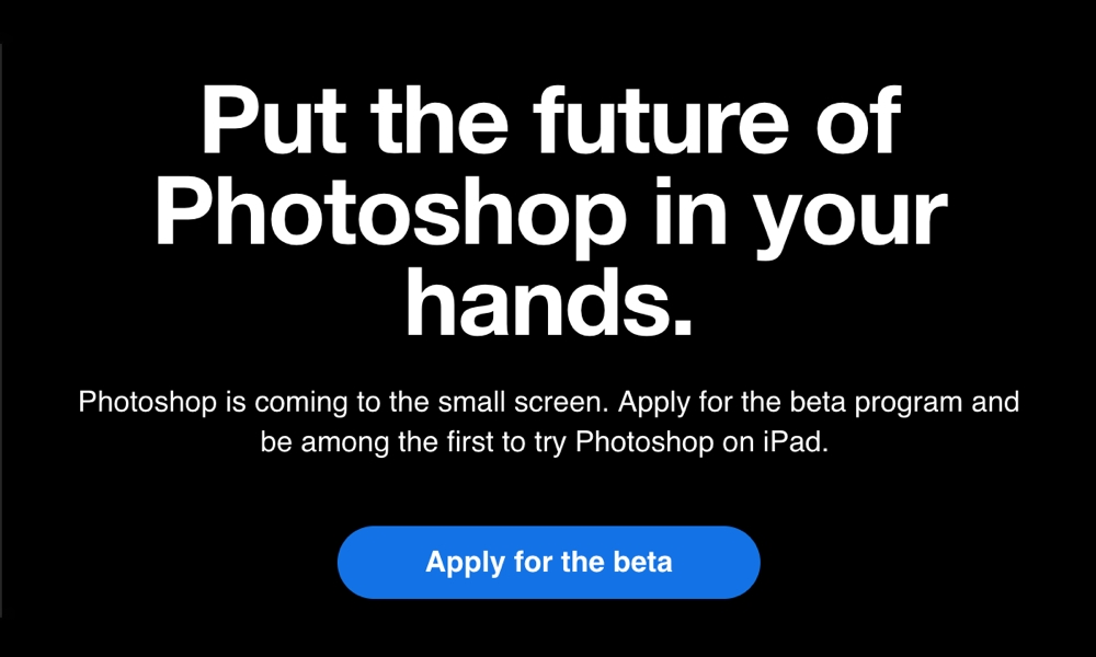 Adobe Photoshop for iPad Beta Signup