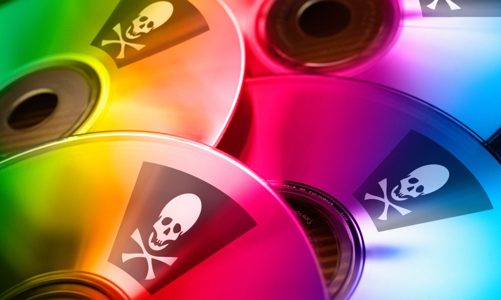 CDs with Skull And Crossbones Piracy