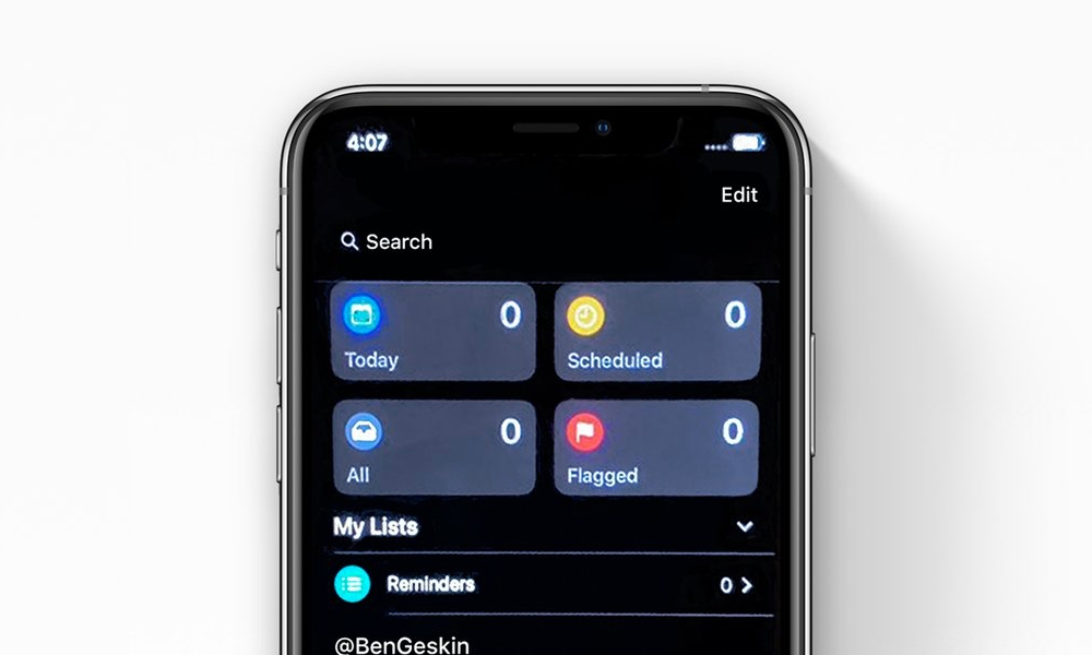 iOS 13 Reminders App Leak